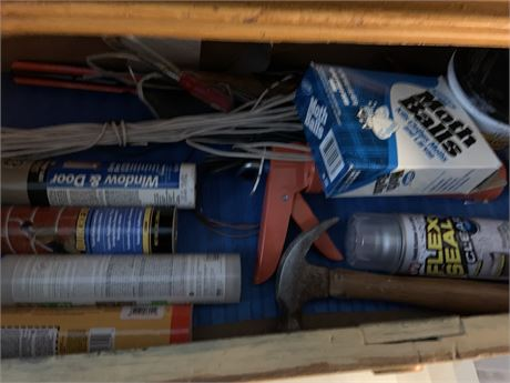 Drawer Clean Out- Tools, Caulk Gun, and more