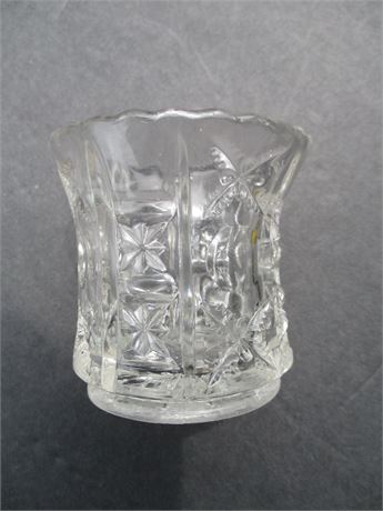 """Antique 3"""" Old Crystal Glass Fancy Tooth Pick Holder"""