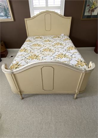 Full Sized Bed Frame & Mattress with Wrap Around Footboard