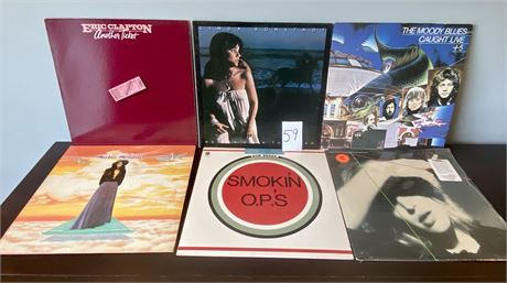 Vintage Vinyl Records Including Bob Seger, Eric Clapton, Linda Ronstadt and More