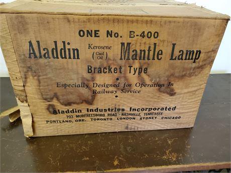 Aladdin Kerosene Bracket Type Mantle Lamp Railway NIB