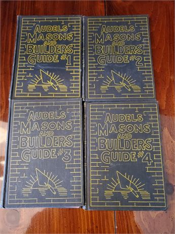 Audels Masons and Builders Guides #1-4