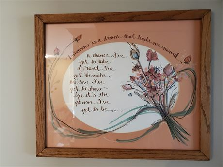 Framed Calligraphy Bible Verse