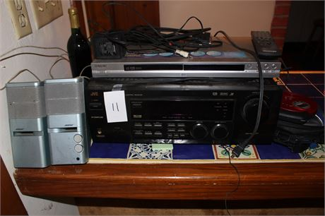 JVC Reciever Sony DVD Bose Speakers and RCA Discman