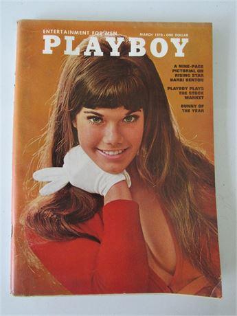 Bobbi Benton Playboy Magazine March 1970 w/ Centerfold