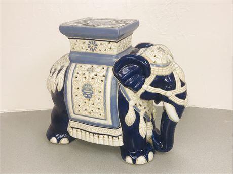 Antique Large Glazed Chinese Porcelain Elephant
