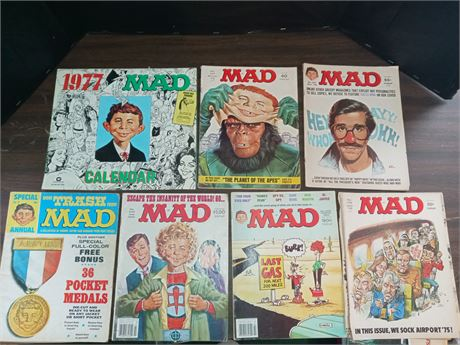 Mad magazines and 1977 calender