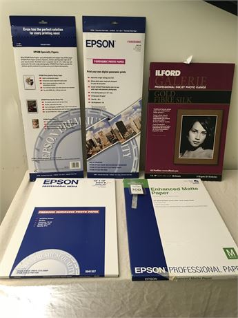 Epson & Ilford Specialty Photo Papers