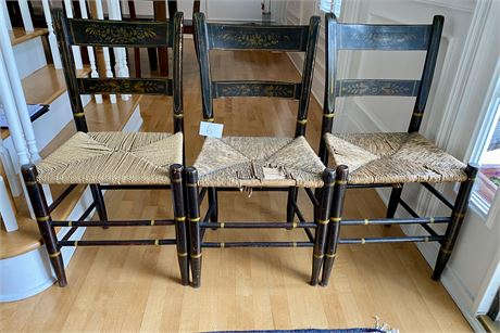 Three Early 19th Century Hand Painted Chairs (as found)