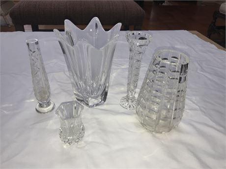 Crystal Vase Lot including Orrefors