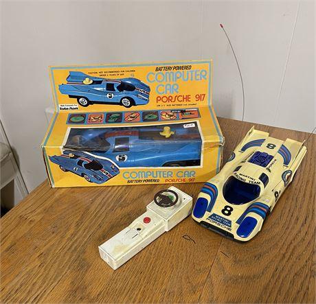 Vintage Porsche Toys Including NIB Porsche 917 & Martini Remote Controlled Car