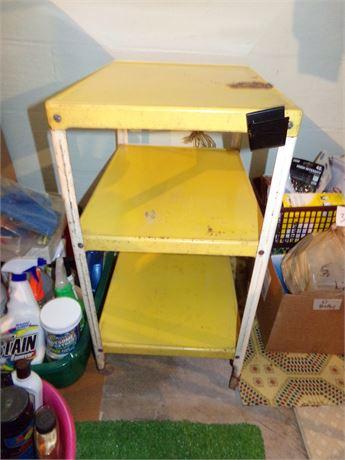 Yellow Metal Vintage Cart