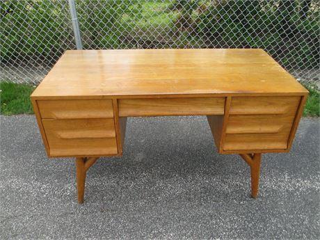 Rare Mid Century Modern Oak Secretary Writing Desk