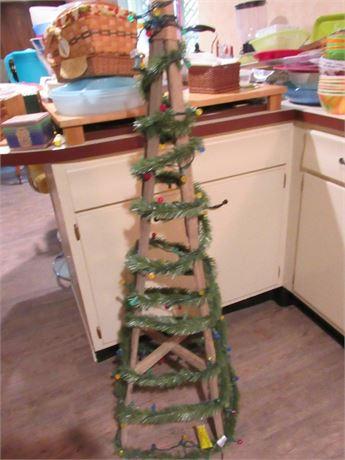 Christmas Tree - Rustic Shabby Chic