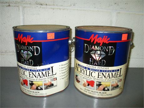 2 Gal Majic Diamond Hard Acrylic Satin Black & Gloss Enamel