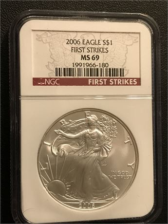 2006 United States Eagle First Strikes NGC MS69