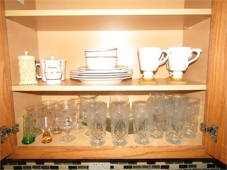 Villeroy & Boch LaPlau Dishes and Assorted Glassware