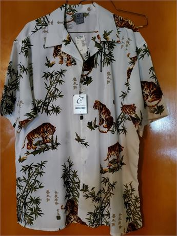 Vintage Claudio Nucci Russian Tiger Shirt NWT