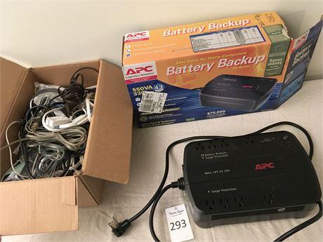 APC Battery Backup Surge Protector and Cords