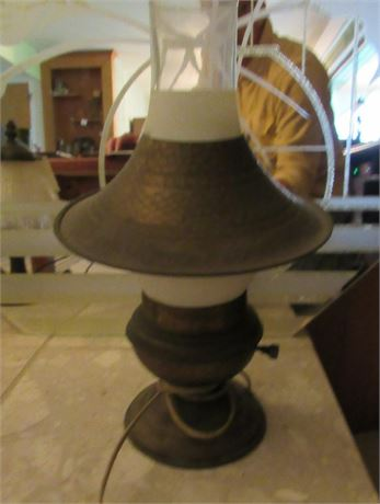 Brass Hurricane Lamp, Vintage