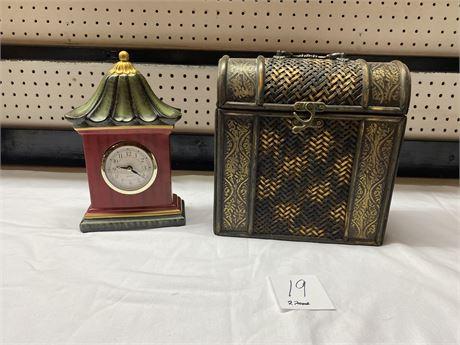 Decorative Box with Clock