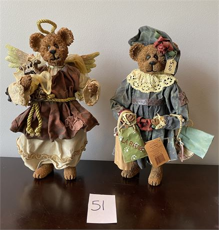 Retired Crumpleton Boyds Bears with Numbers on Feet - Retired and Rare!