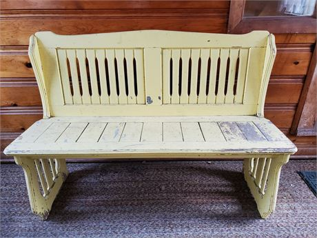 Shabby Chic Wood Bench