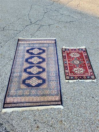 Two Area Throw Rugs