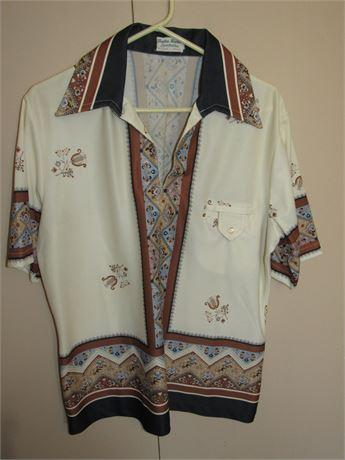 1960s Hippie Disco Shirt Men's M/L