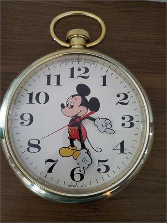 Vintage Elgin Welby Walt Disney Mickey Mouse Wall Clock