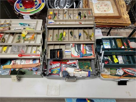 Fishing Lures Equipment and Tackle Boxes