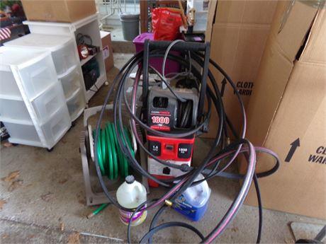 Power washer, garden hoses