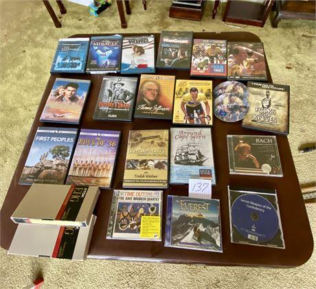 DVDs & CDs Lot