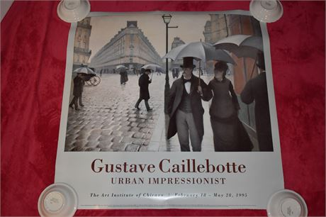 Gustave Caillebotte Poster- Art Inst. of Chicago 1995