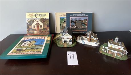 Hand-painted Charles Wysocki Figurines and Collectible Calendars