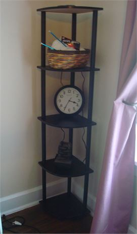 Corner Shelf with Contents