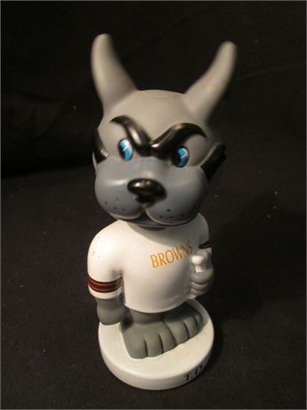 "Vintage Cleveland Browns TD Dog Plastic Player 7 1/2"" bobble Head"