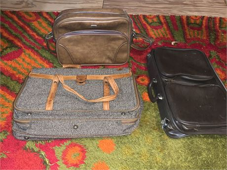 Airway Carry-On Luggage, Leather Briefcase, Hartmann Luggage