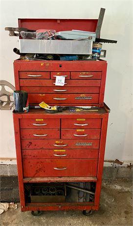 Red Waterloo Toolbox With Contents