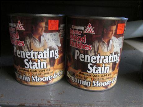 2 - Qts Benjamin Moore Penetrating Golden Oak Interior  Stains