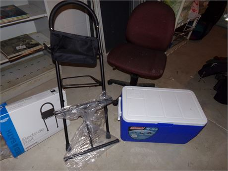 Cooler, office chair, bedside rail