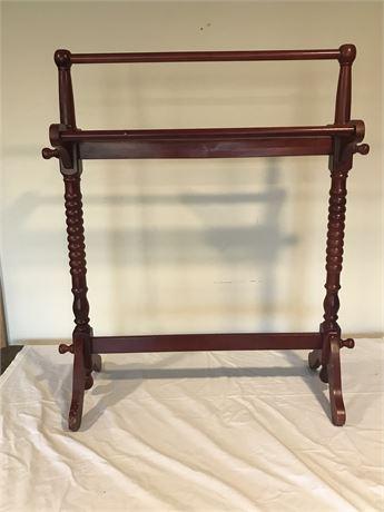 Vintage Wood Quilt Rack