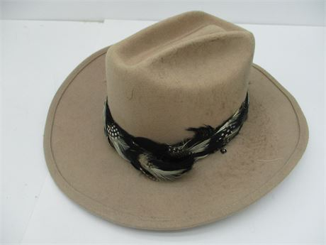 Fancy Country Gentleman Cowboy Hat  w/Feather hat Band 7