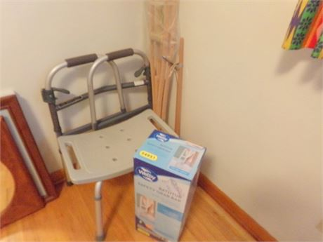 Bath Seat, Walker, Grab Bar, Grabber, and Crutches