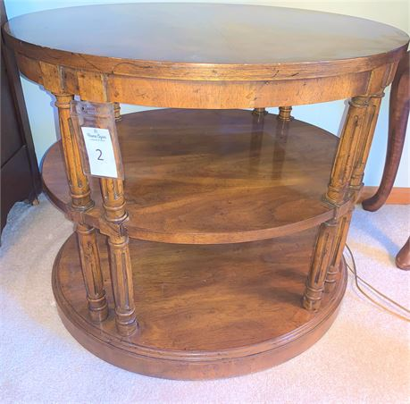 Vintage Fruitwood Side Table