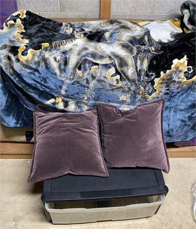ADFA Unicorn Blanket - Heavy Duty - w/ Storage Bin & Home Decor