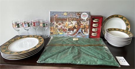 Miscellaneous Christmas Home Decor and Dishes Lot #2