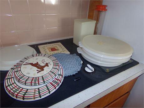 Vintage Tupperware, Burner Covers, Trivets