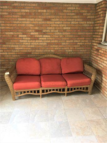 Lane Venture Wicker Sofa with Cushions