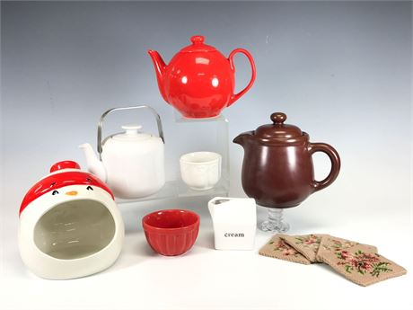 Porcelain and Ceramic Kitchenware Lot